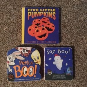 Bundle of 3 Halloween board books